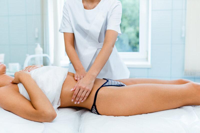 masáž brucha, anticelulitídna masáž, diastáza