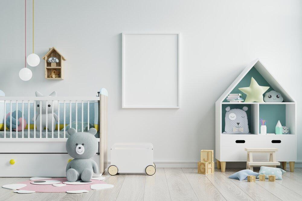 detská izba, maketa škôlky, biela stena