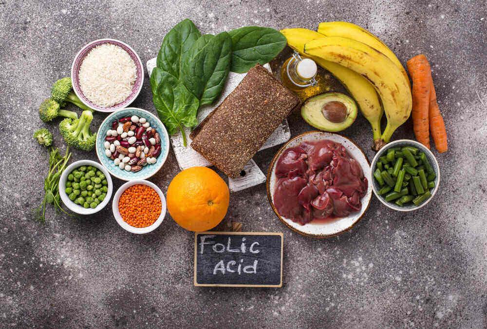 Jedlo bohaté na kyselinu listovú.
