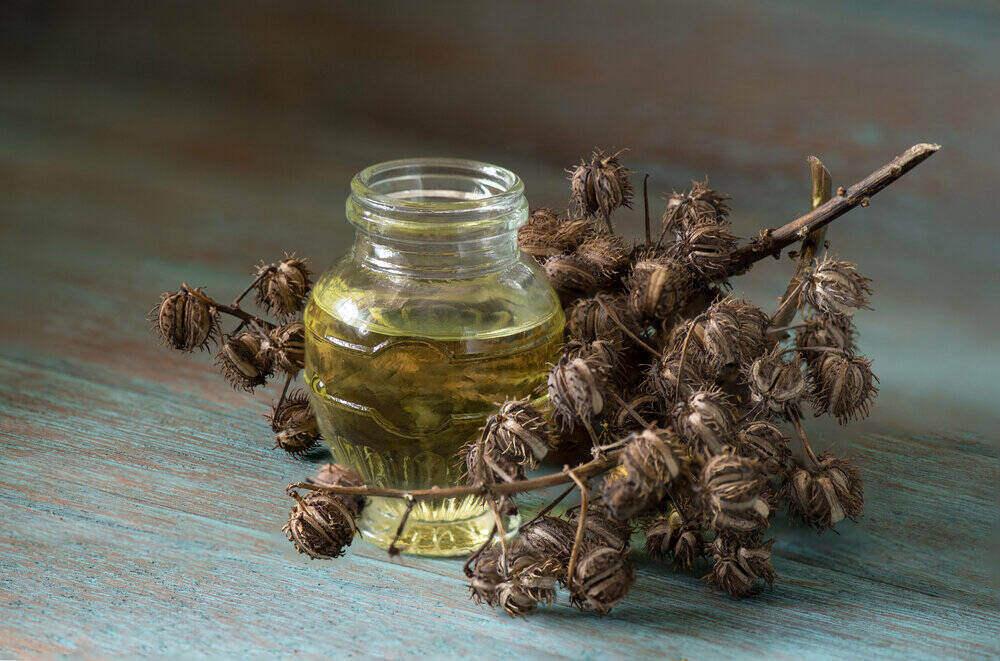 Ricínový olej a sušené ovocie