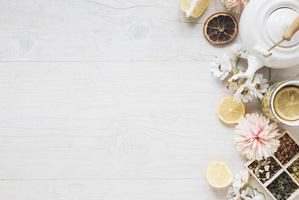 Citrón, čaj a bylinky pre zdravie bez stresu