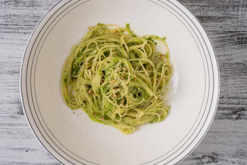 špagety s medvedím cesnakom
